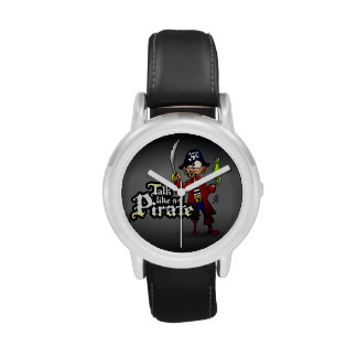 Charla como un pirata reloj de mano