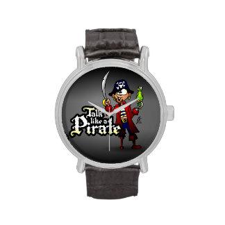 Charla como un pirata relojes de pulsera