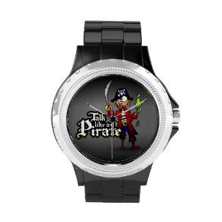 Charla como un pirata relojes de mano
