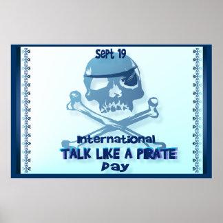 Charla como un poster de la bandera pirata del pir