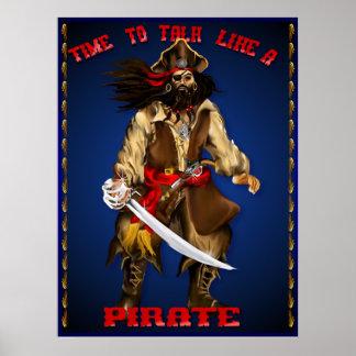 Charla como un poster del pirata…