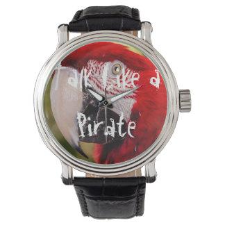 Charla como un reloj del pirata