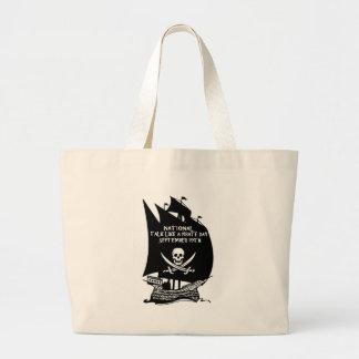 Charla como una nave del día del pirata bolsas