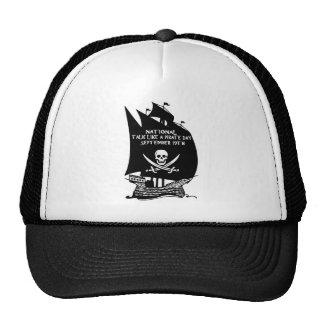 Charla como una nave del día del pirata gorra