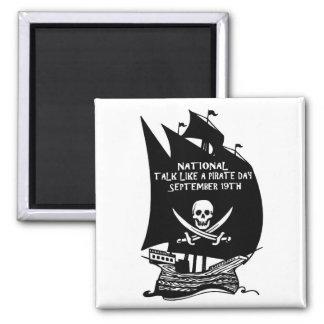 Charla como una nave del día del pirata imán para frigorífico