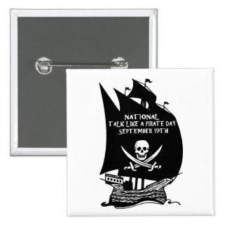 Charla como una nave del día del pirata pins