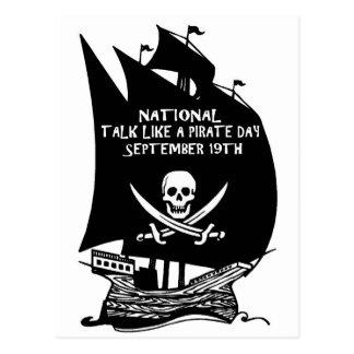 Charla como una nave del día del pirata postal