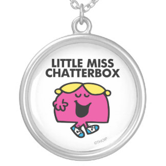 Charla con pequeña Srta. Chatterbox Colgante Redondo