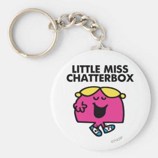 Charla con pequeña Srta. Chatterbox Llavero Redondo Tipo Pin