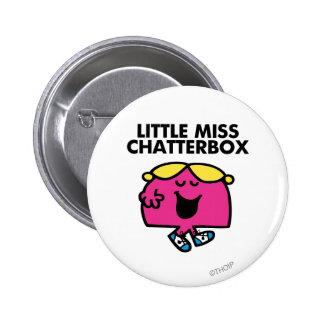 Charla con pequeña Srta. Chatterbox Pin Redondo De 2 Pulgadas