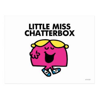 Charla con pequeña Srta. Chatterbox Postales