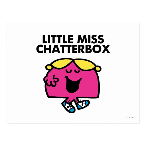 Charla con pequeña Srta. Chatterbox Postales