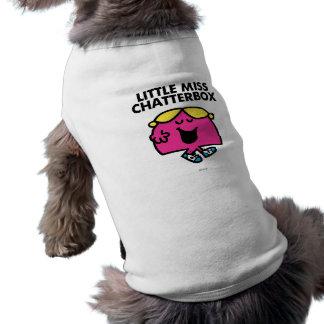 Charla con pequeña Srta. Chatterbox Playera Sin Mangas Para Perro