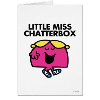Charla con pequeña Srta. Chatterbox Tarjeta De Felicitación