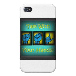 Charla con sus manos (2) iPhone 4/4S carcasa