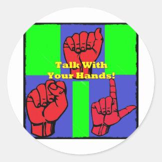 ¡Charla con sus manos! Pegatina