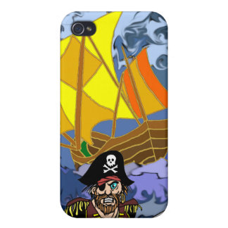 Charla de Arrrrr como un día del pirata iPhone 4/4S Carcasas