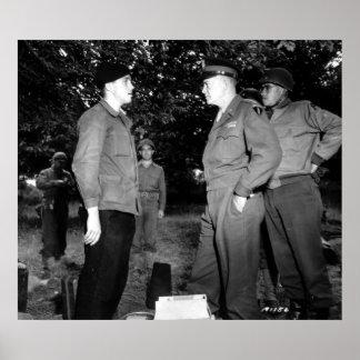 Charla de Eisenhower y de Bradley a la resistencia Impresiones