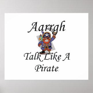 Charla de la CAMISETA como un pirata Impresiones