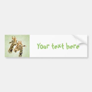 Charla de la jirafa etiqueta de parachoque