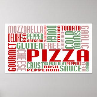 charla de la pizza póster