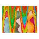 Charla de la sombra - arte oriental de acrílico tarjeta postal
