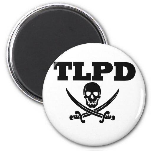 Charla de TLPD como un día del pirata Iman Para Frigorífico