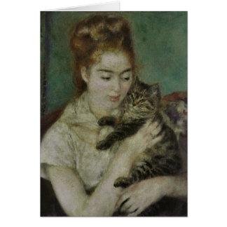Charla del au de Femme - Pedro Auguste Renoir Tarjeta De Felicitación