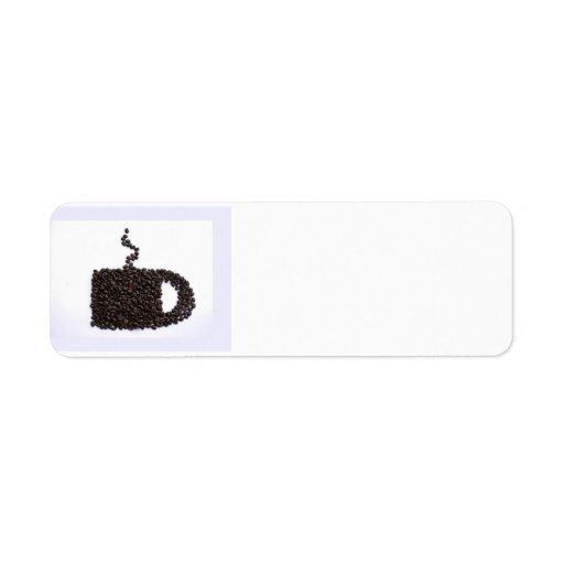 Charla del café etiquetas de remite
