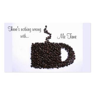 Charla del café tarjetas de visita