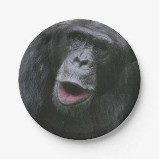 Charla del chimpancé plato de papel 17,78 cm