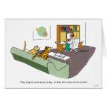 Charla del gato tarjeta de felicitación