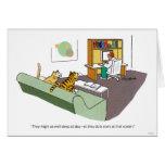 Charla del gato tarjeton