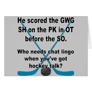 Charla del hockey tarjeta