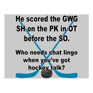 Charla del hockey tarjetas postales
