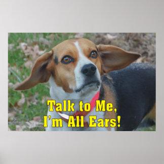 Charla divertida a mí, soy todo el beagle de los póster