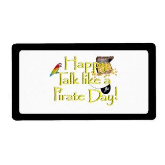 ¡Charla feliz como un día del pirata Etiquetas De Envío