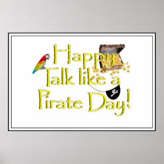 ¡Charla feliz como un día del pirata! Poster