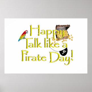 ¡Charla feliz como un día del pirata! Impresiones