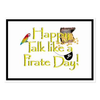 ¡Charla feliz como un día del pirata! Tarjetas De Visita Grandes