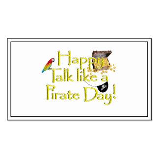 ¡Charla feliz como un día del pirata! Tarjetas De Visita