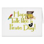 ¡Charla feliz como un día del pirata! Tarjeton