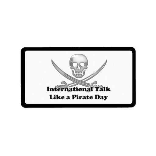 Charla internacional como un día del pirata etiqueta de dirección