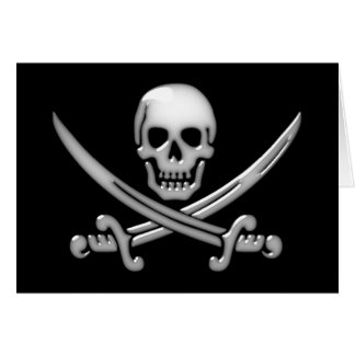 Charla internacional como un día del pirata tarjeta de felicitación