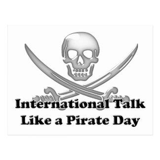 Charla internacional como un día del pirata tarjeta postal