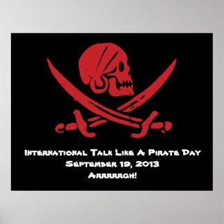 Charla internacional como un poster 2013 del día d