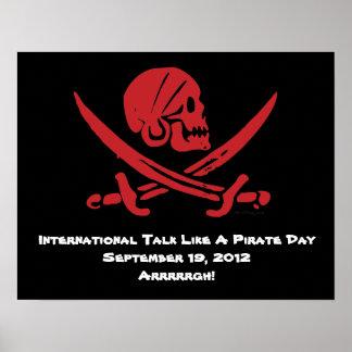 Charla internacional como un poster del día del pi