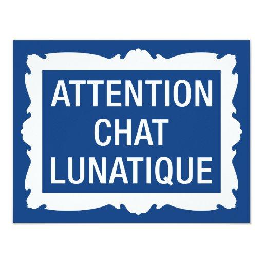 """Charla Lunatique de la atención Invitación 4.25"""" X 5.5"""""""