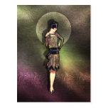 Charla - moda de los años 20 en de color topo, postales