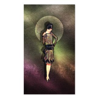 Charla - moda de los años 20 en de color topo, tarjetas de visita